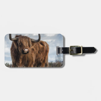 Highland Bull Luggage Tag
