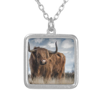 Highland Bull Silver Plated Necklace