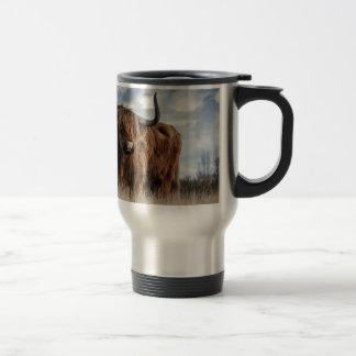 Highland Bull Travel Mug