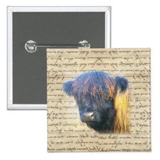 Highland cow button