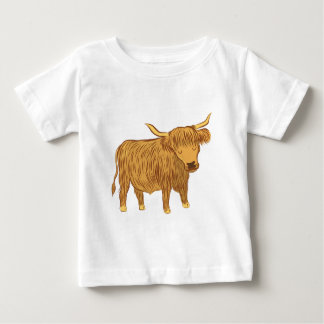 highland cow (coo) baby T-Shirt