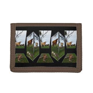 Highland Cow Dimensional Art, Tri-fold Wallets