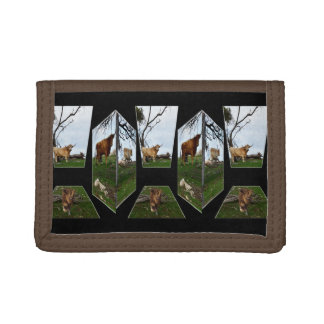 Highland Cow Dimensional Art, Trifold Wallet