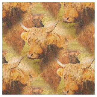Highland Cow. Fabric