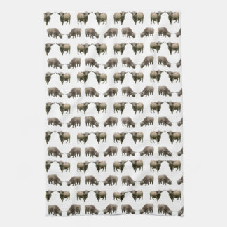 Highland Cow Frenzy Kitchen Towel (choose colour)
