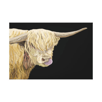 Highland Cow Head & Shoulders Canvas Print