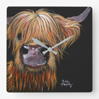 Highland Cow 'Henry' Clock by Shirley MacArthur