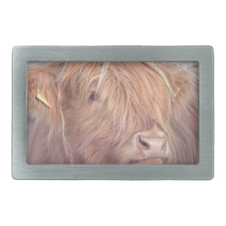 Highland Cow, Highland Cattle Rectangular Belt Buckle
