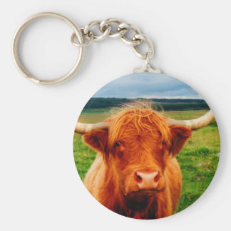 Highland Cow Key Ring
