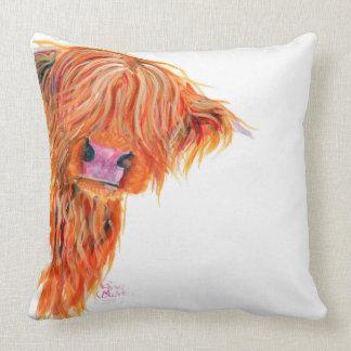 Highland Cow 'Peekaboo' Lovely Soft Cushion