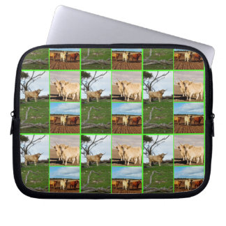 Highland Cow Photo Collage, 10inch Laptop Sleeve