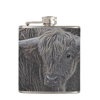 Highland cow photograph flask