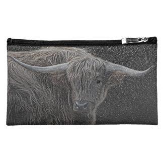 Highland cow photograph purse cosmetics bags