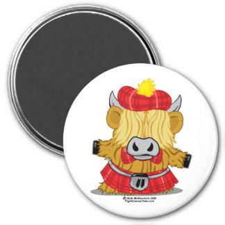 Highland Cow Red Kilt 7.5 Cm Round Magnet