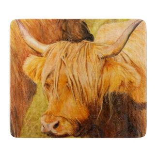 Highland cow, scottish cattle cutting board
