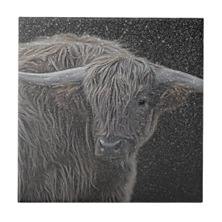 Highland cow tile