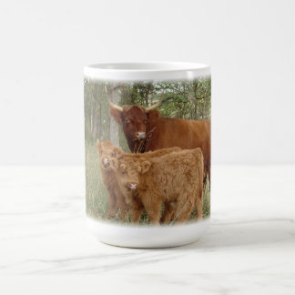 Highland Cow with Calves Coffee Mug