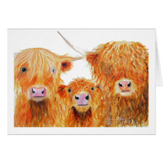 Highland Cows 'We 3 Coos' Greeting Cards