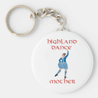 Highland Dance Mother - Teal Basic Round Button Key Ring