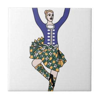 Highland Dancer Ceramic Tile