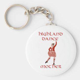 Highland Dancer Mother - Red Key Ring