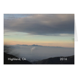 Highland from top of the mountains Scenery Card