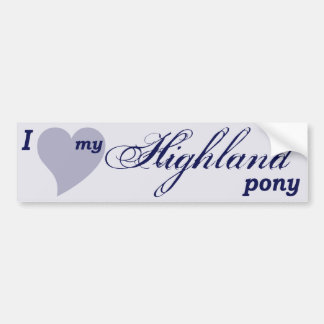 Highland pony bumper sticker
