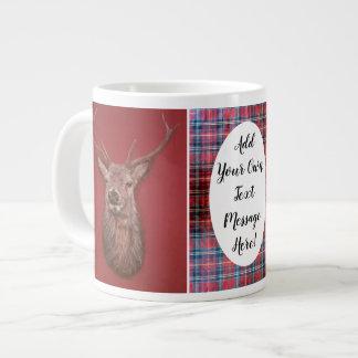 Highland `Red deer stag' & Tartan Specialty Mug
