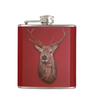 Highland Red Stag Flask