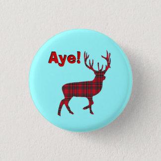 Highland Stag Scottish Independence Pinback 3 Cm Round Badge