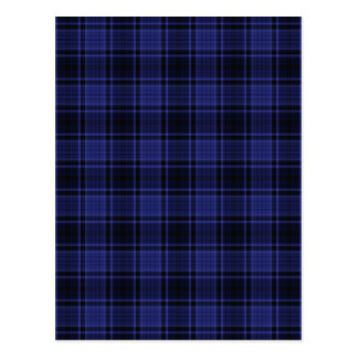 HIGHLAND TARTAN in Blue ~ Postcard