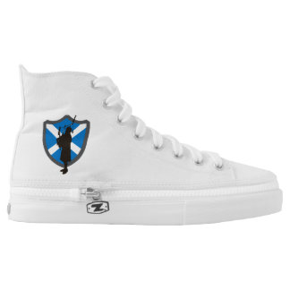 Highlander Bagpiper High Tops Printed Shoes