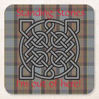 Highlander Plaid Celtic Knot Mug Cup Coaster Scots