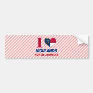 Highlands, North Carolina Bumper Sticker