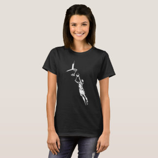 Highlighted Female Basketball Silhouette T-Shirt