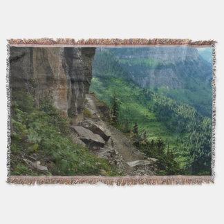 Highline Trail Glacier National Park Montana Throw Blanket