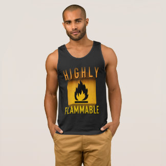 Highly Flammable Warning Retro Atomic Age Grunge : Singlet
