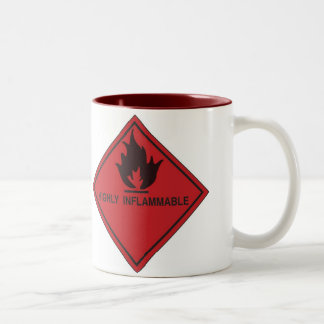 highly inflammable Two-Tone coffee mug