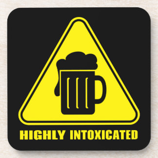 Highly Intoxicated Funny Drinking Beverage Coasters