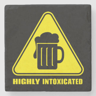 Highly Intoxicated Funny Drinking Stone Beverage Coaster