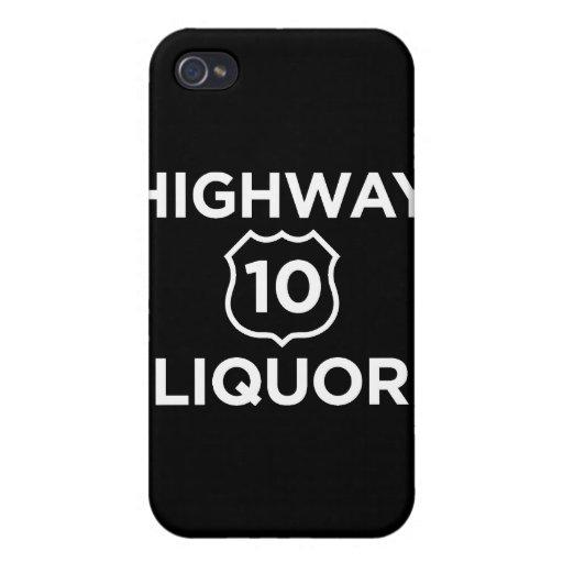 Highway 10 Liquor iPhone 4 Covers