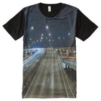 Highway at Night All-Over Print T-Shirt