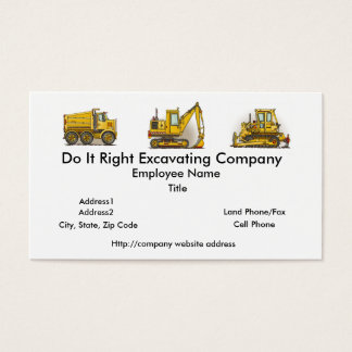 Highway Dump Truck Business Cards