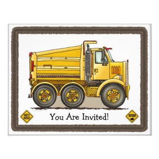 Highway Dump Truck Kids Party Invitation