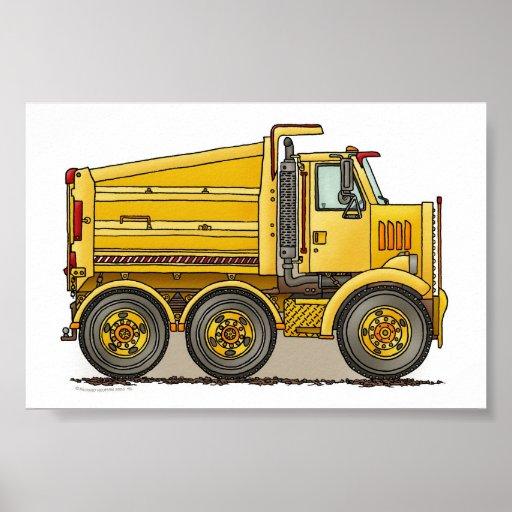 Highway Dump Truck Posters