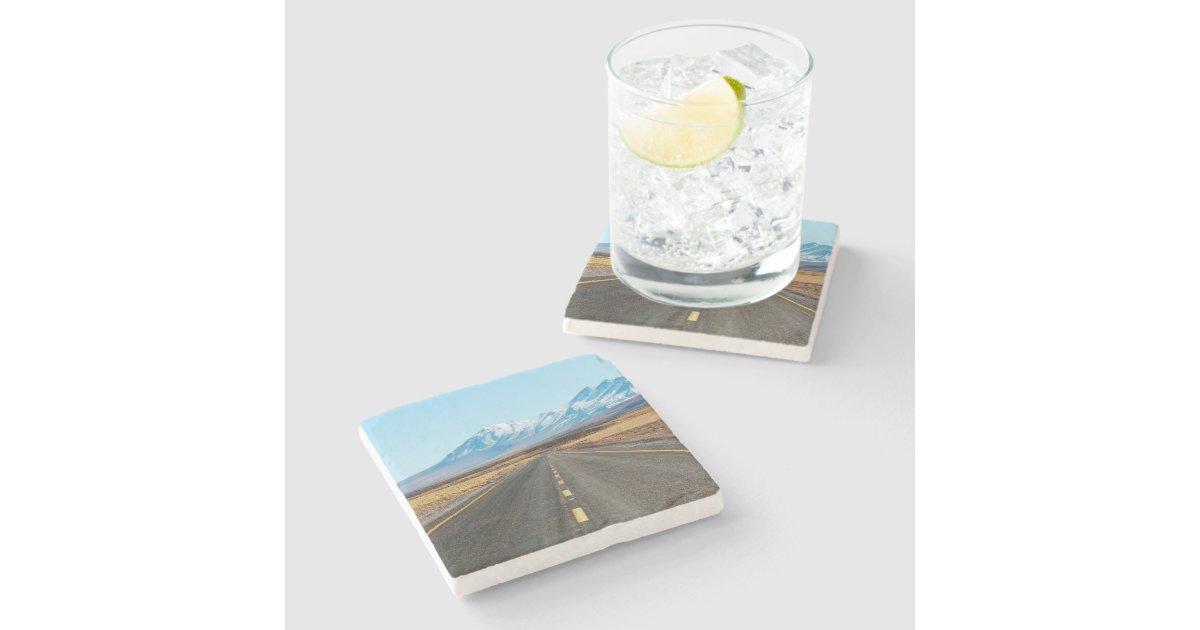 Highway Landscape Stone Beverage Coaster Zazzle