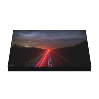Highway lights canvas print