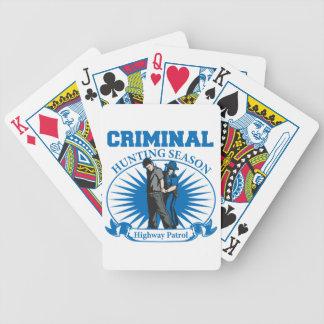 Highway Patrol Criminal Hunting Season Bicycle Poker Cards