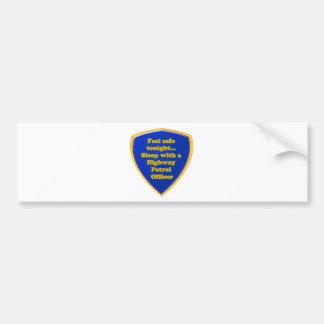 Highway Patrol Officer Bumper Sticker