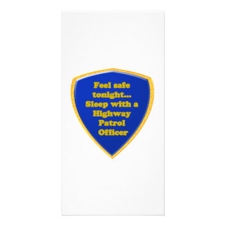 Highway Patrol Officer Photo Greeting Card